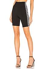by the way. Sia Checker Side Stripe Biker Short in Black & White
