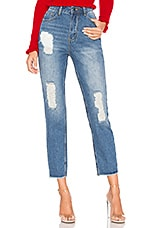 by the way. Sasha Distressed Jeans in Mid Blue Wash