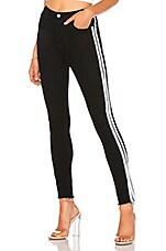 by the way. Leona Stripe Side Denim in Black & White
