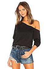 superdown Rebecca Off Shoulder Sweatshirt in Black