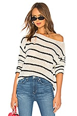 superdown Eden Striped Sweater in Black & White