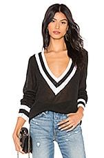 superdown Bobbie V Neck Sweater in Black Multi