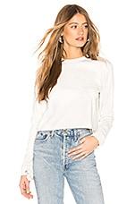 by the way. Lilianna Tie Sleeve Sweatshirt in Light Heather Grey