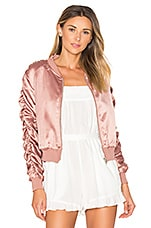 Zana Ruched Bomber in Blush
