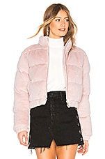 superdown Adalynn Zip Up Puffer in Blush