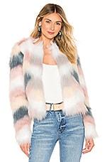 superdown Shiloh Faux Fur Jacket in Ivory Multi