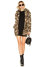 by the way. Emery Camo Faux Fur Coat in Olive Multi