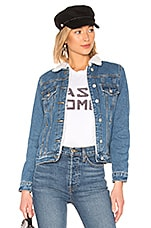 by the way. Selene Sherpa Denim Jacket in Denim