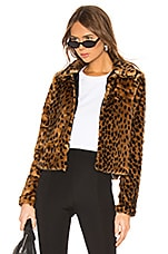 superdown Casey Leopard Faux Fur Coat in Leopard