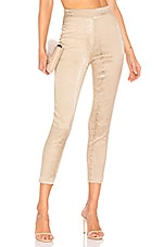 superdown Kimberly Snakeskin Pants in Natural