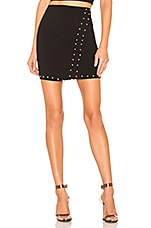 by the way. Kendra Studded Mini Skirt in Black