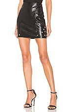 by the way. Nikki Faux Leather Skirt in Black
