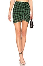 by the way. Alec Snap Up Skirt in Green Multi