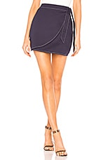 by the way. Maci Wrap Skirt in Navy