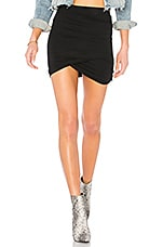 superdown Arden Ruched Mini Skirt in Black