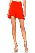 superdown Milan Ruffle Mini skirt in Orange