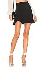 superdown Milan Ruffle Mini Skirt in Black