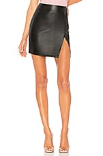 superdown Trinity Faux Leather Skirt in Black