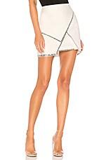 superdown Carly Studded Mini Skirt in White