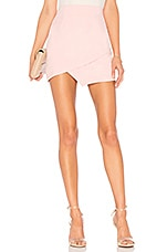 superdown Saira Faux Suede Mini Skirt in Blush