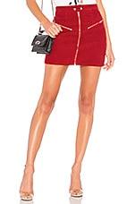 by the way. Malika Corduroy Mini Skirt in Red