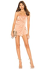 by the way. Lennox Satin Drape Romper in Rose