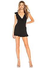 by the way. Desiree Ruffle Top Edge Romper in Black