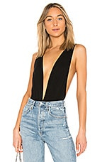 superdown Jade Double V Bodysuit in Black