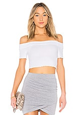 by the way. Lainey Ruffle Crop top in White