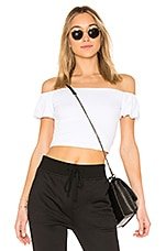 by the way. Quinn Off Shoulder Crop Top in White