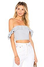by the way. Lana Ruffle Crop Top in Light Blue