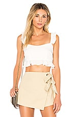 superdown Monroe Ruffle Crop Top in White