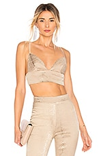 superdown Kimberly Snakeskin Crop Top in Natural