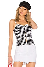 by the way. Stevie Gingham Peplum Top in Black & White