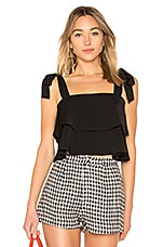 superdown Helene Tie Strap top in Black