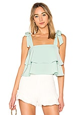 superdown Helene Tie Strap Top in Mint