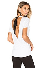 Lux Draped Tee in White