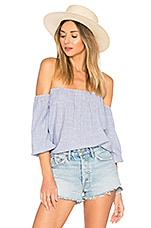 by the way. Tawny Blouson Top in Blue Stripe