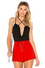 by the way. Abigail Criss Cross Bodysuit in Black