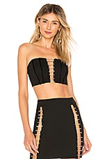 by the way. Arianna Rhinestone Crop Top in Black