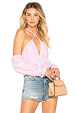 by the way. Suri Stripe Halter Top in Pink Stripe