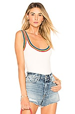superdown Drea Rainbow Ribbed Bodysuit in Rainbow