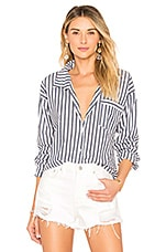 by the way. Kelly Striped Button Up in Navy Stripe
