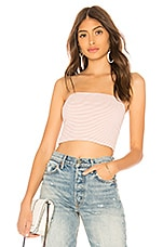 by the way. Bianca Stripe Tube Top in Light Pink