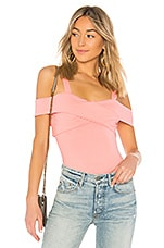 by the way. Evie Off Shoulder Bodysuit in Pink