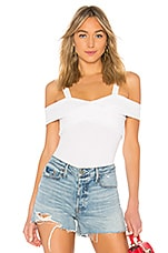 superdown Evie Off Shoulder Bodysuit in White