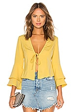 superdown Julia Ruffle Top in Yellow