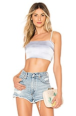 by the way. Jane Satin Crop Top in Light Blue