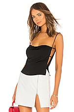 superdown Kait Cut Out Cami Top in Black
