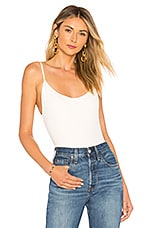 superdown Jocelyn Scoop Back Bodysuit in White